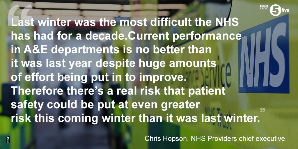 Chris Hopson NHS Providers CEO Winter Pressure