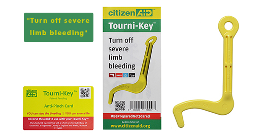 citizenAID launch new life saving Tourni-Key