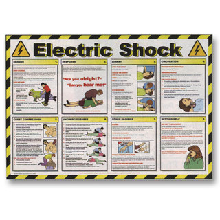 First Aid Poster - Electric Shock