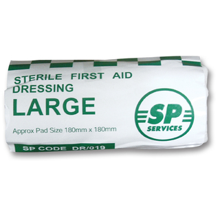 SP Large Sterile HSE Flow Wrapped Dressing - 18 x 18cm
