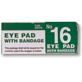 No 16 Sterile Eye Pad & Bandage - Boxed - Single