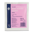 Reliswab Non-Woven Sterile Swabs - 7.5 x 7.5cm - Pack of 5