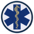 Emblem Patch - Blue Star of Life