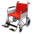 Heavy Duty Porter Wheelchair with Orange Fabric