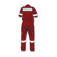 Ambulance Coverall Short Sleeve - Red - Medium
