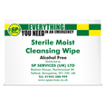 SP Sterile Moist Cleansing Wipe - Alcohol Free